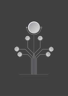 Conceito de projetos de logotipo abstrato árvore digital