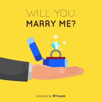 Conceito de proposta romântica