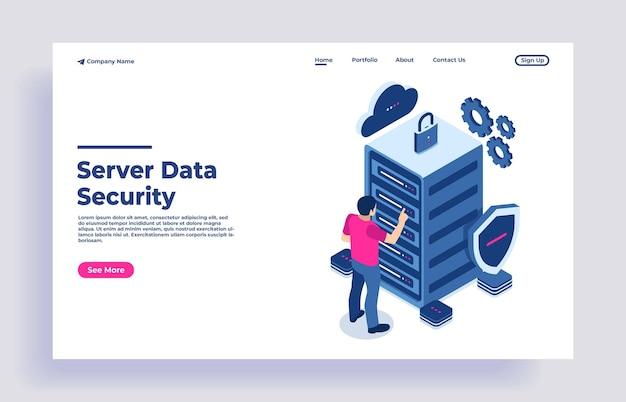 Conceito de proteção de dados de segurança e conceito de dados de rede de proteção de dados confidenciais e de segurança