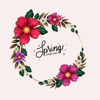 Conceito de quadro floral aquarela primavera