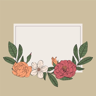 Conceito de quadro floral primavera retrô