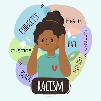 Conceito de racismo ilustrado