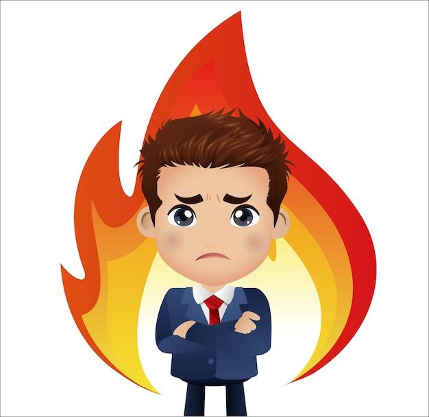 Conceito de raiva de empresários