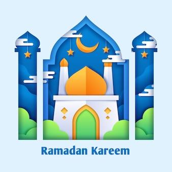 Conceito de ramadã em design plano