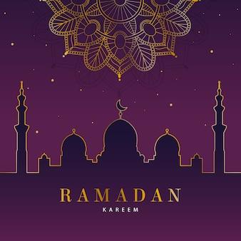 Conceito de ramadan design plano