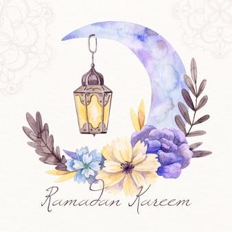 Conceito de ramadan em aquarela