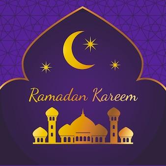 Conceito de ramadan plana