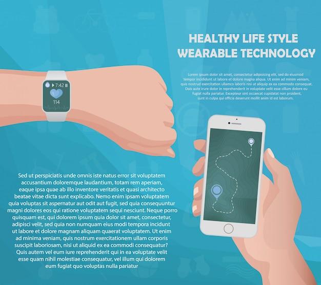 Conceito de rastreador de fitness smartwatch
