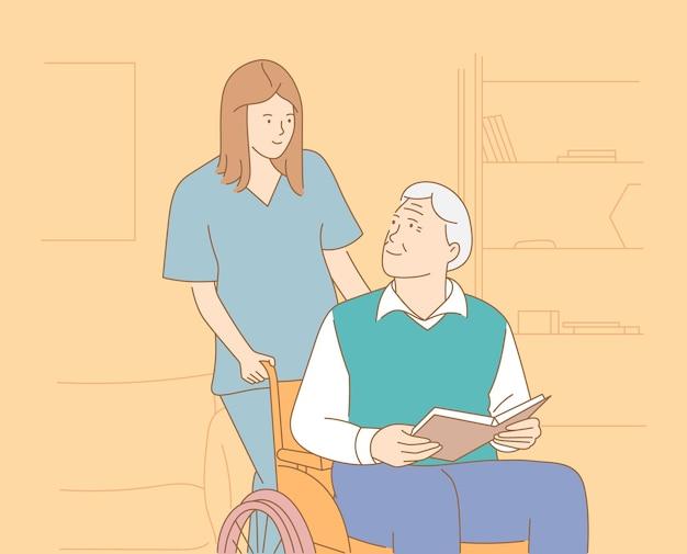 Conceito de reabilitação de hospício de hospital de lares de idosos