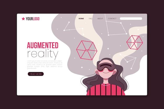 Conceito de realidade aumentada - página de destino