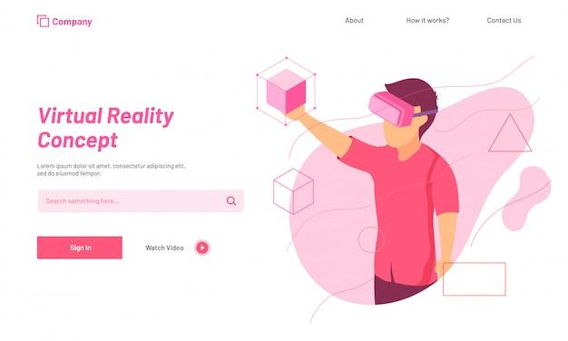 Conceito de realidade virtual.
