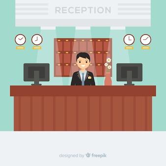 Conceito de recepção criativa em design plano
