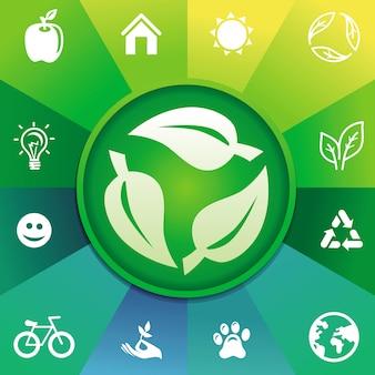 Conceito de reciclagem de vetor - ecologia