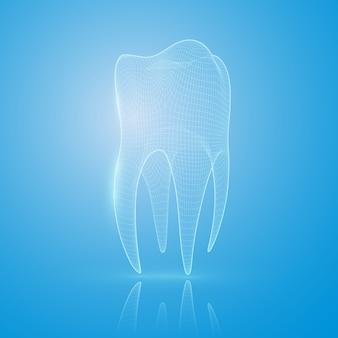 Conceito de reconstrução de dente.
