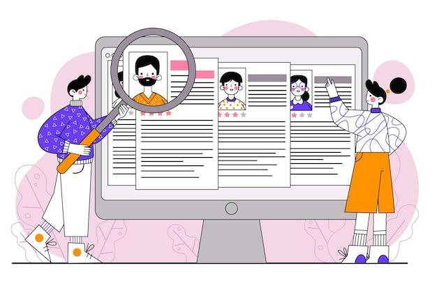 Conceito de recrutamento ilustrado com pessoas