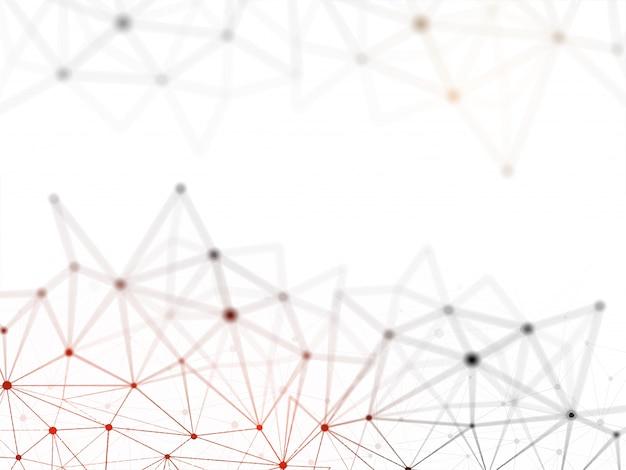 Conceito de rede blockchain, razão gerada, tecnologia de conexão de computador.