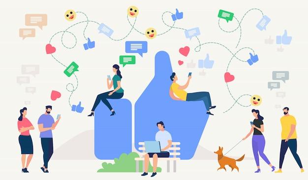 Conceito de rede social. ilustração vetorial.