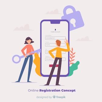 Conceito de registro on-line