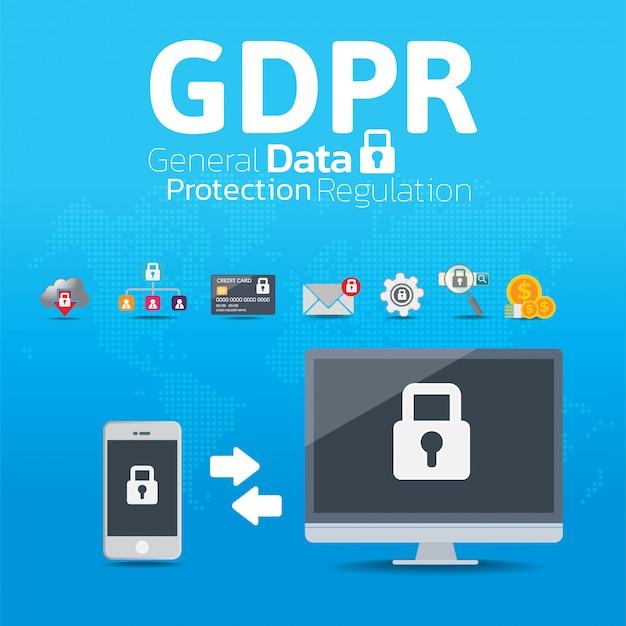 Conceito de regulação geral de proteção de dados (gdpr).