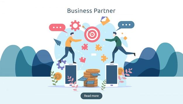 Conceito de relação de parceria de negócios