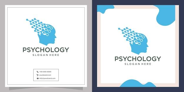 Conceito de relacionamento e logotipo de cabeça