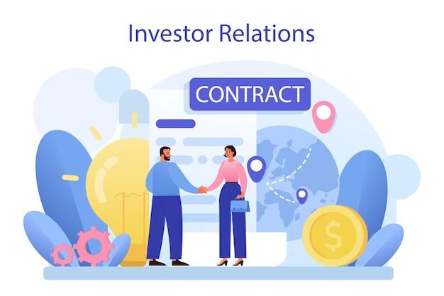 Conceito de relações com investidores