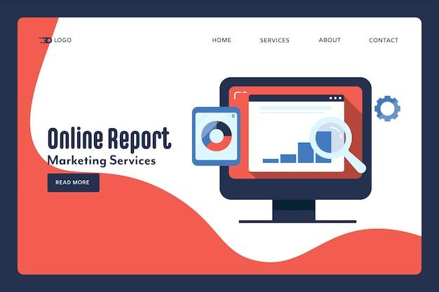 Conceito de relatório online