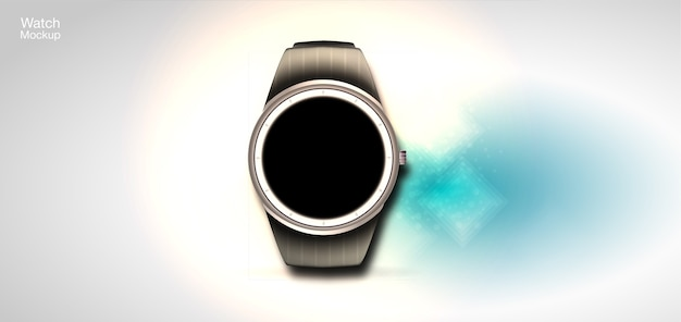 Conceito de relógios inteligentes. ilustração realista com um estilo futurista.