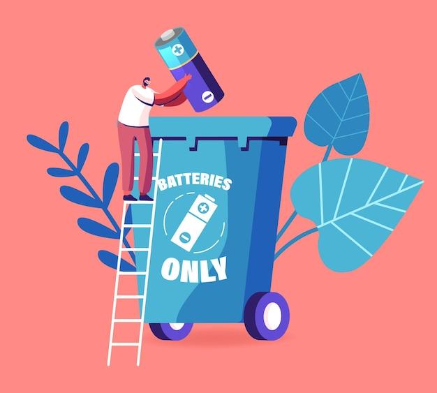 Conceito de resíduos de equipamentos elétricos e eletrônicos. ilustração de desenho animado