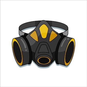 Conceito de respirador de máscara de gás