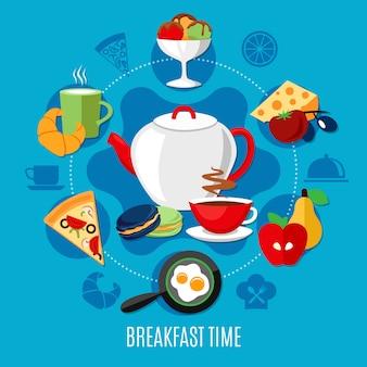 Conceito de restaurante de café da manhã
