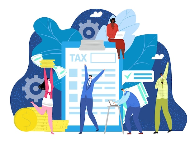 Conceito de retorno financeiro de impostos