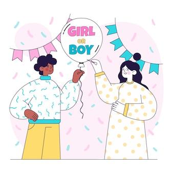 Conceito de revelação de gênero simples ilustrado