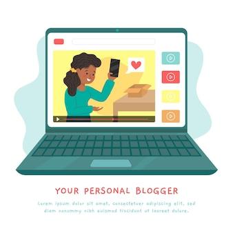Conceito de revisão do blogger