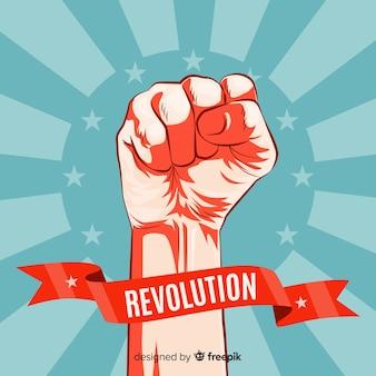 Conceito de revolução clássica com estilo vintage