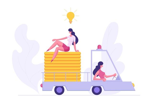 Conceito de riqueza financeira de sucesso inovador empresarial