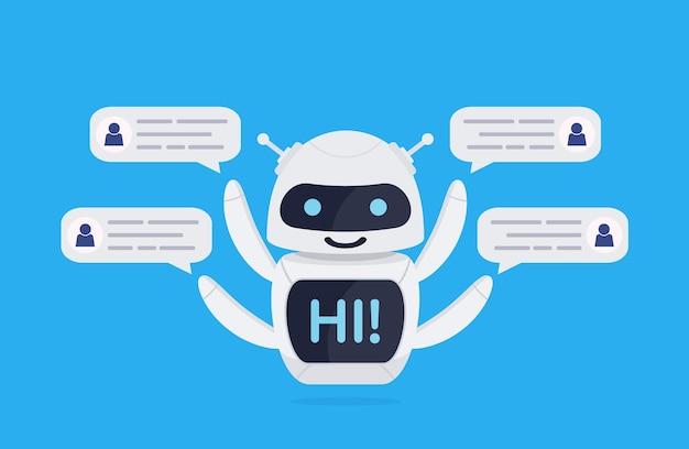 Conceito de robô do chatbot.