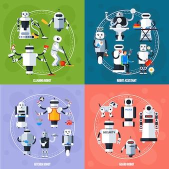 Conceito de robôs inteligentes