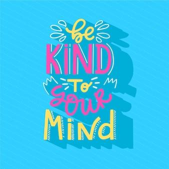 Conceito de rotulação de mente positiva