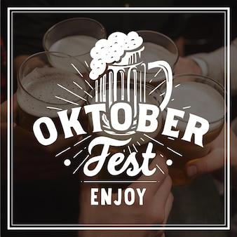 Conceito de rotulação de oktoberfest