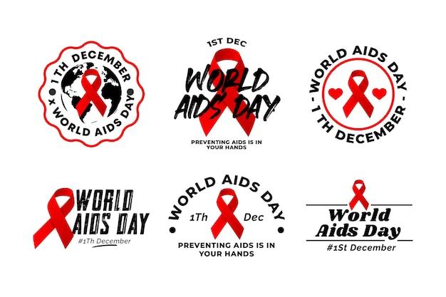 Conceito de rótulos do dia mundial da aids