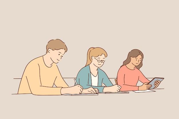 Conceito de sala de aula de aprendizagem de processo educacional