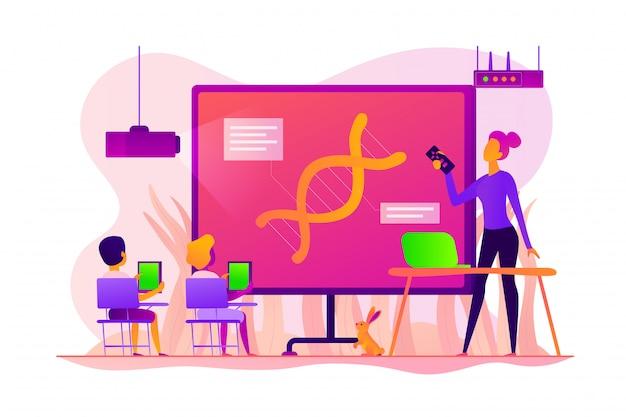 Conceito de sala de aula digital.