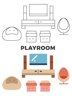 Conceito de sala de jogos