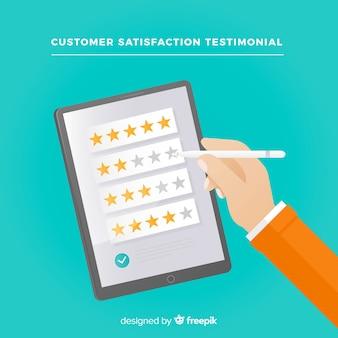 Conceito de satisfação do cliente moderno