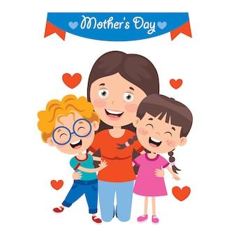 Conceito de saudação de dia das mães