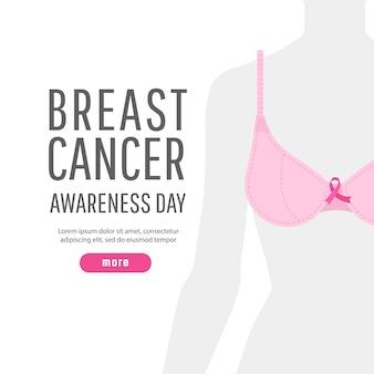 Conceito de saúde de mulheres. câncer de mama mundial