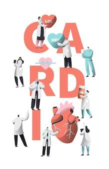 Conceito de saúde do coração do trabalhador de cardiologia médica