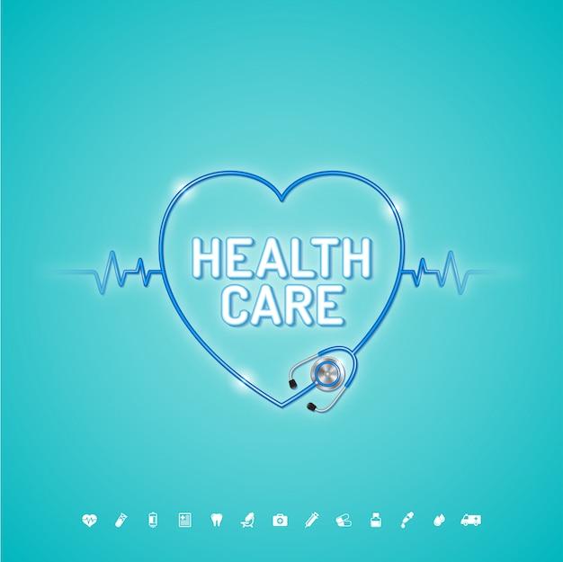 Conceito de saúde e médico