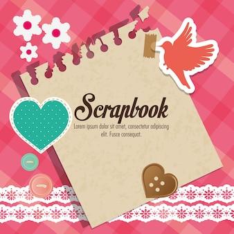 Conceito de scrapbook